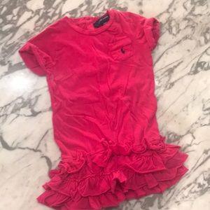 5/$15 Ralph Lauren hot pink T-shirt dress